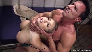 Border officer caught huge tits blonde smuggler and then in rope bondage fucked her tight ass